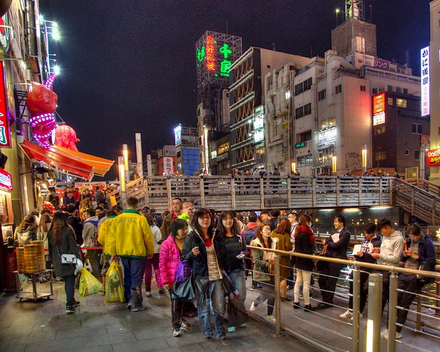Dotonbori at Night, Osaka, Kansai, Japan