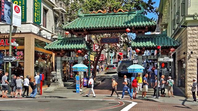 Dragon's Gate, Grant Street, San Francisco, California, United States