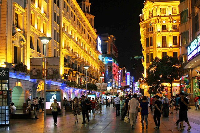 East Nanjing Road, The Pedestrian Street, Shanghai, China