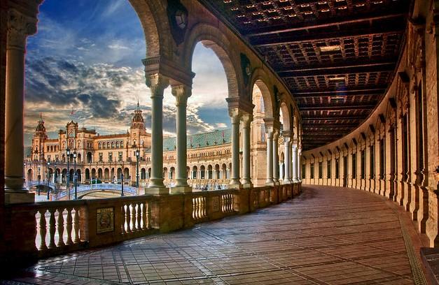 Enchanting Plaza de España, Sevilla, Andalusia, Spain
