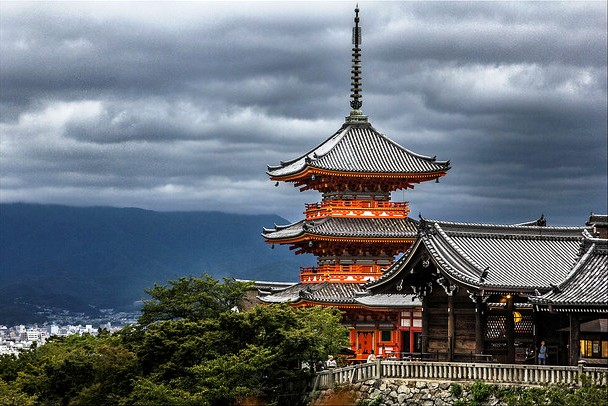 Great View of Kiyomizudera Temple, Kyoto, Japan