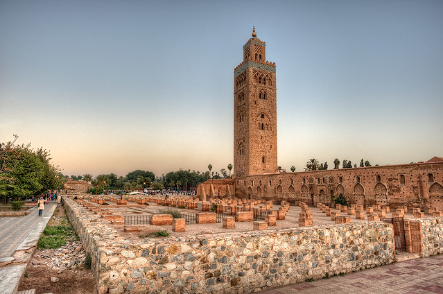 Great View of Koutoubia Mosque, Marrakech, Morocco