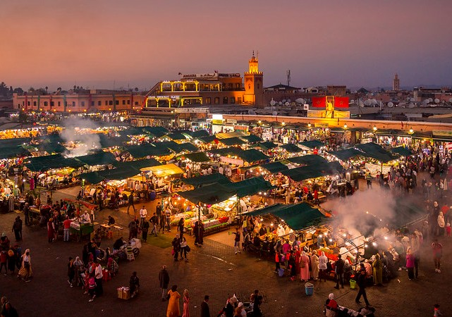 Jemaa el Fna, Medina, Marrakech, Morocco