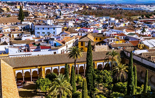 Juderìa from the top of the Mezquita, Córdoba, Andalusia, Spain