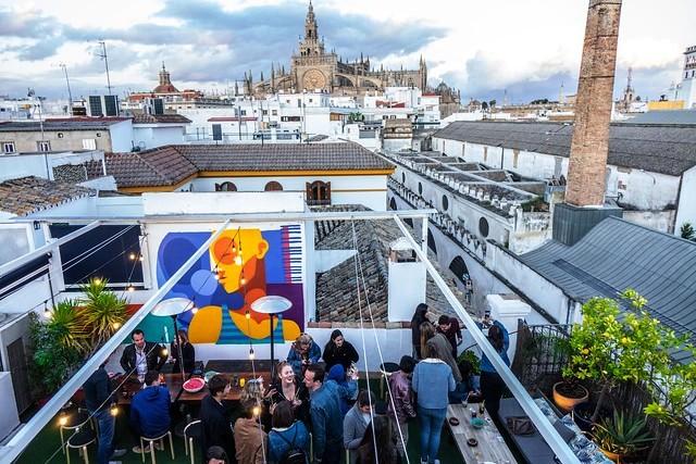 La Banda Rooftop Hostel, Sevilla, Andalusia, Spain