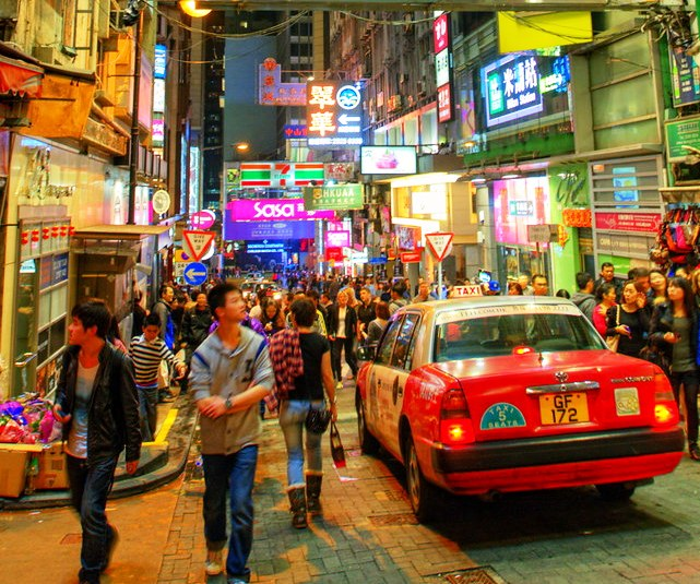 Lan Kwai Fong, Central, Hong Kong Island, Hong Kong, China