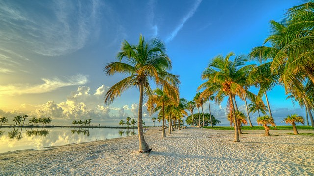 Matheson Hammock Park Beach, Coral Gables, Florida, United States