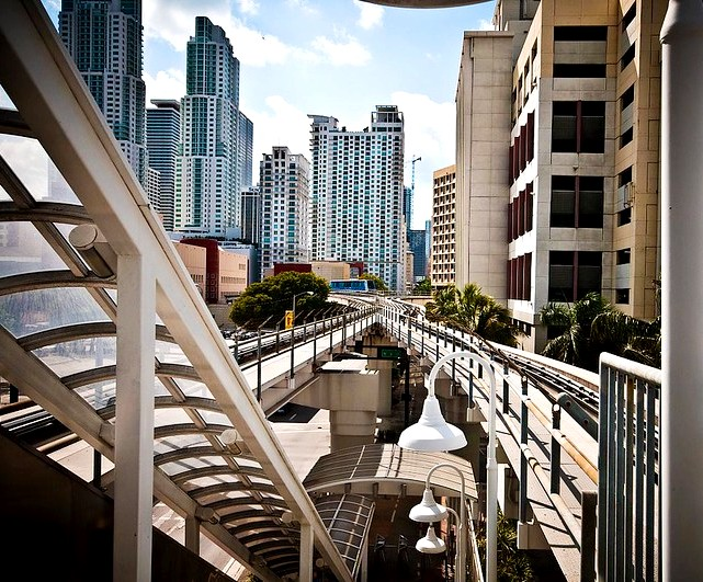 Metromover, Downtown, Miami, Florida, United States