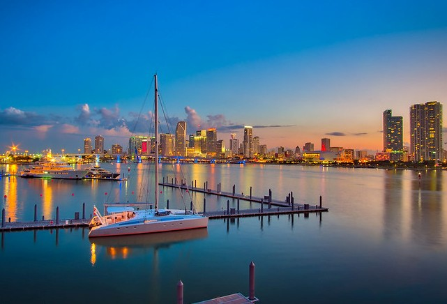 Miami Skyline, Florida, United States