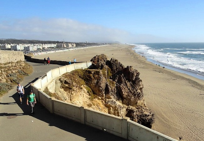 Ocean Beach from the Cliff House, San Francisco, California, United States