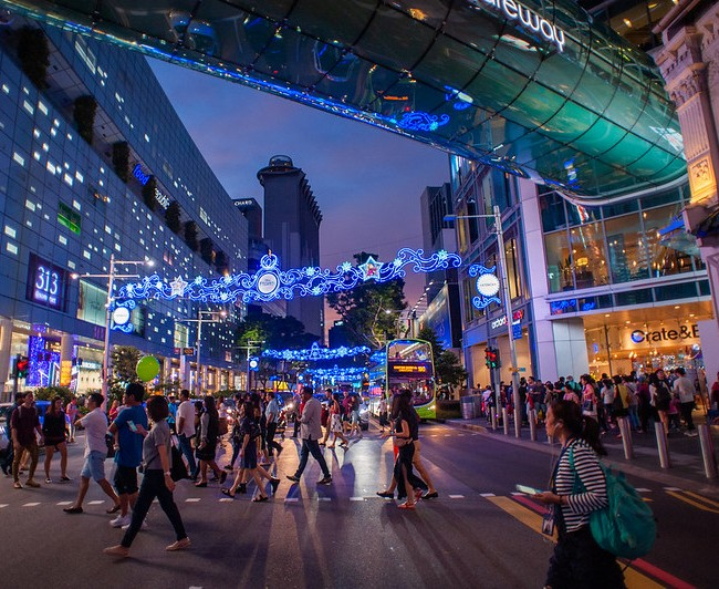Orchard Road in Blue Hour, Singapore