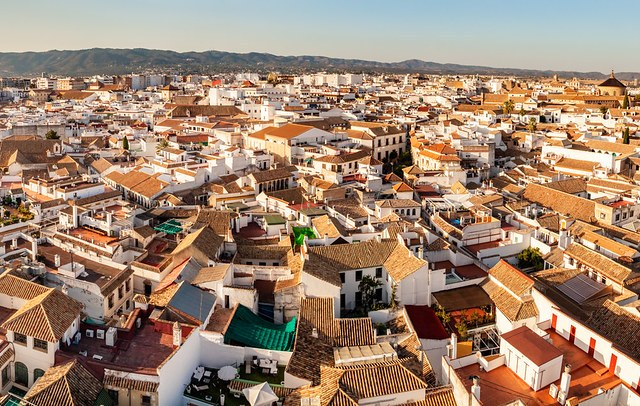 Panorama of the Juderìa from the Top of the Mezquita, Córdoba, Andalusia, Spain