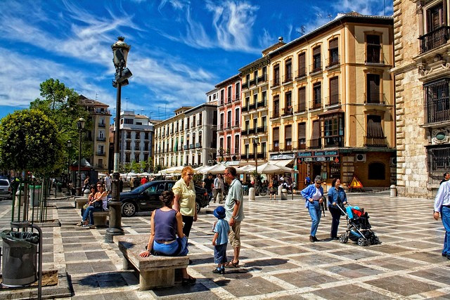 Plaza Nueva, Granada, Andalusia, Spain