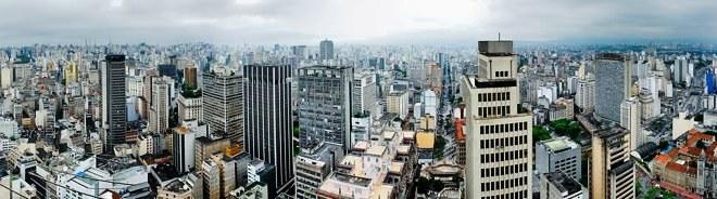 Panorama from Edifício Altino Arantes (BANESPA), São Paulo, Brazil