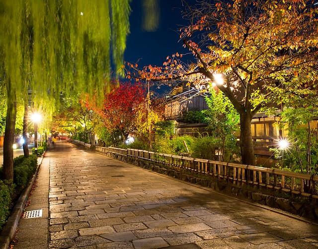 Shimbashi or Shirakawa Minami-dori, Kyoto, Japan