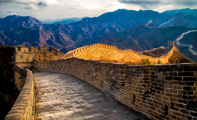 Spectacular View of The Great Wall of China, near Beijing, China