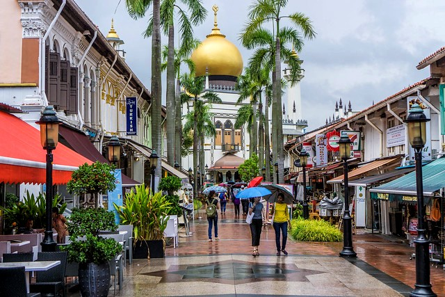 Sultan Mosque from Bussorah Street, Kampong Glam, Singapore