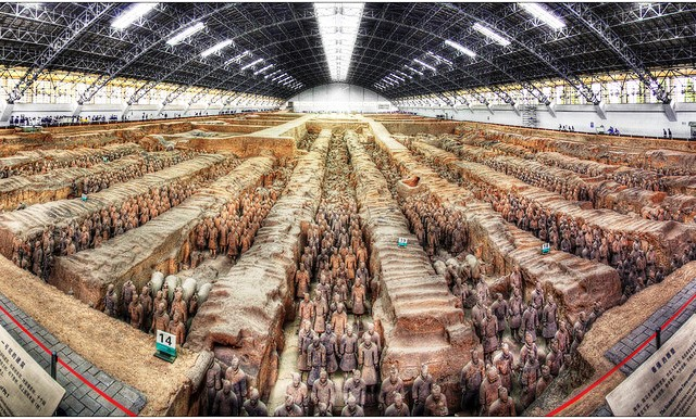 Terracotta Army Museum Panorama, Xian, China