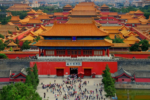 The Forbidden City from Jingshan Park, Beijing, China