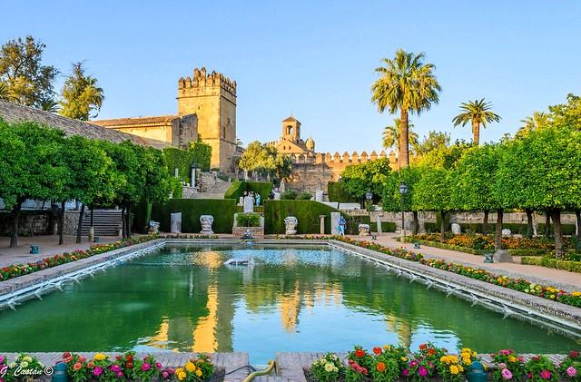 The Gardens, Alcázar de los Reyes Cristianos, Córdoba, Andalusia, Spain