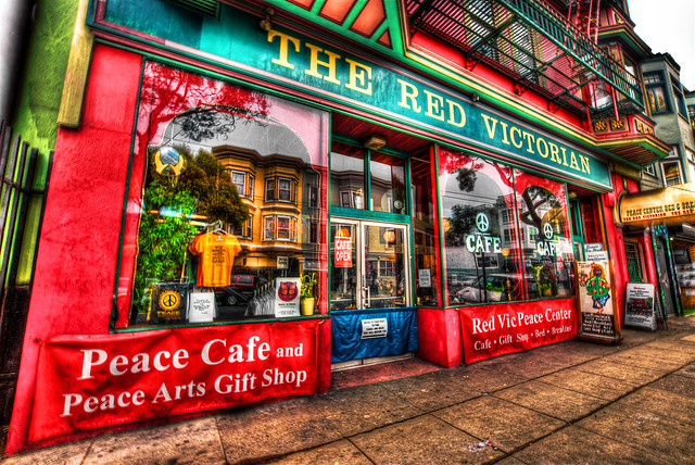 The Red Victorian, Haight Street, Haight-Ashbury District, San Francisco, California, United States