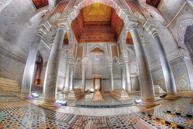 Tombeaux Saadiens, Medina, Marrakech, Morocco