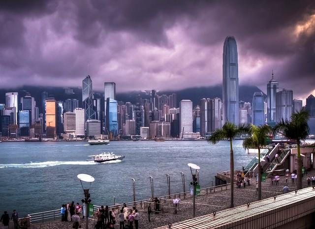 Tsim Sha Tsui Waterfront Promenade at Avenue of the Stars, Tsim Sha Tsui, Kowloon, Hong Kong, China