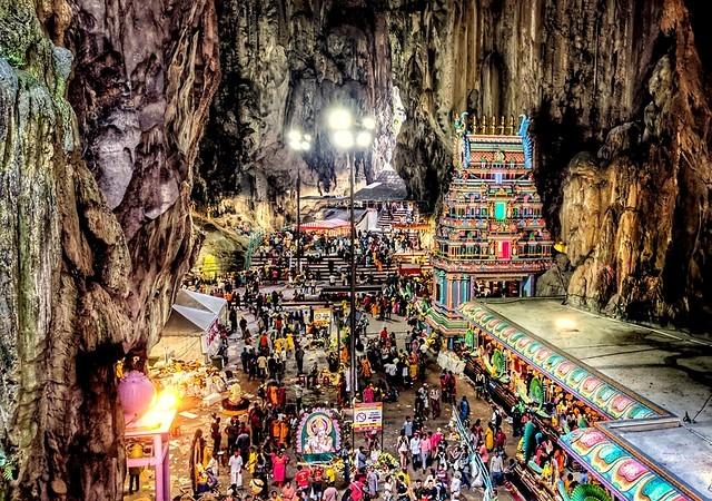 Visiting the Batu Caves, near Kuala Lumpur, Malaysia
