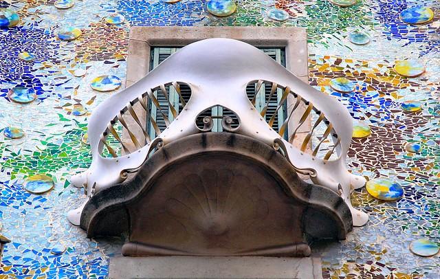 Balcony, Casa Batlló, Eixample, Barcelona, Spain