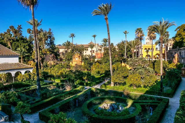 The Gardens, Real Alcázar, Sevilla, Andalusia