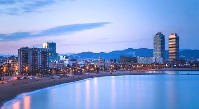 Paseo Marítimo de La Barceloneta, Barcelona, Catalunya, Spain