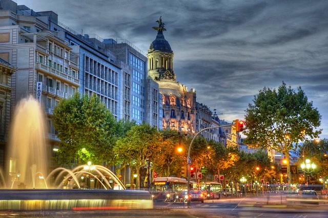 Passeig de Gràcia, Eixample, Barcelona, Spain
