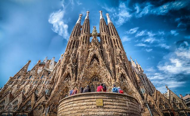 Sagrada Família, Eixample, Barcelona, Catalunya, Spain