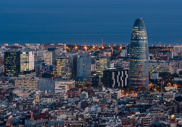 Torre Agbar, Barcelona, Catalunya, Spain