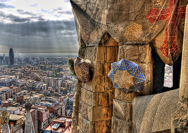 View from the Tower, Sagrada Família, Barcelona, Spain