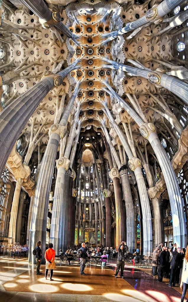 Visiting Sagrada Família, Barcelona, Spain