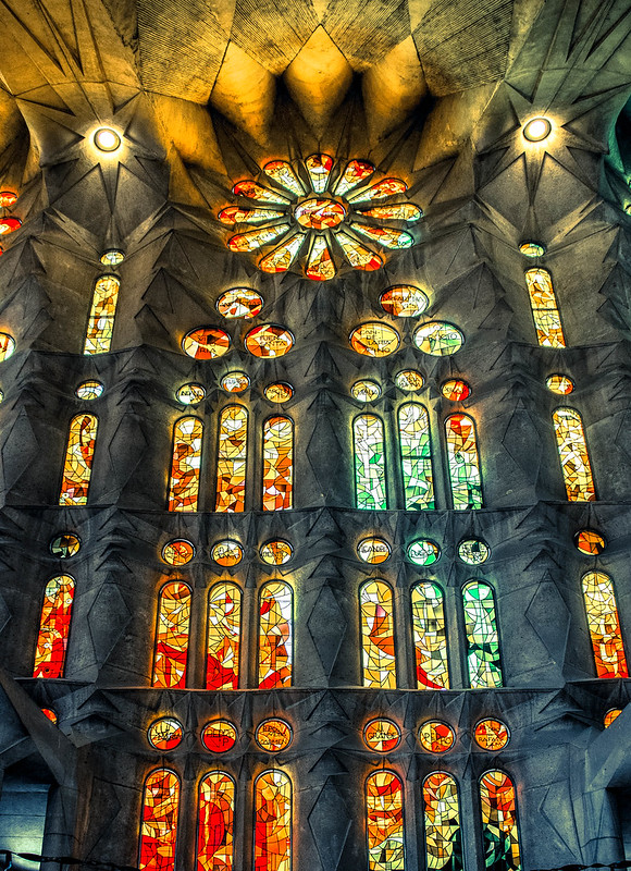 Windows, Sagrada Família, Barcelona, Spain