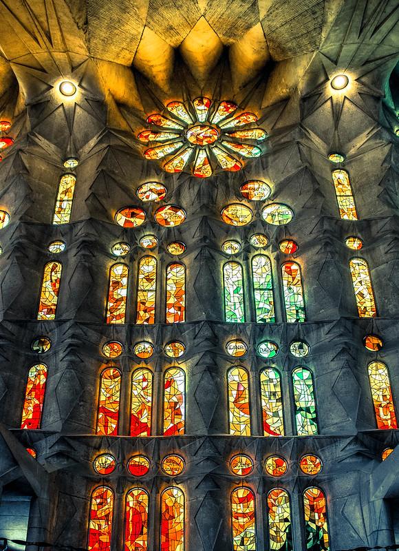 Windows, Sagrada Família, Barcelona, Spain