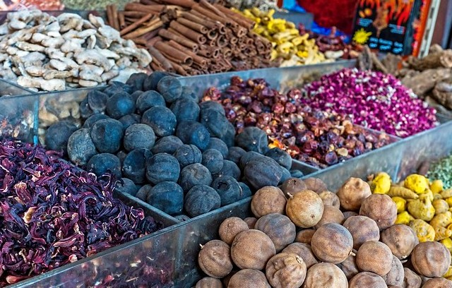 Colorful Spices, Spice Souk, Deira, Dubai, United Arab Emirates