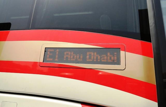 E100 Bus Service to Abu Dhabi, Al Ghubaiba Bus Station, Bur Dubai, Dubai, UAE
