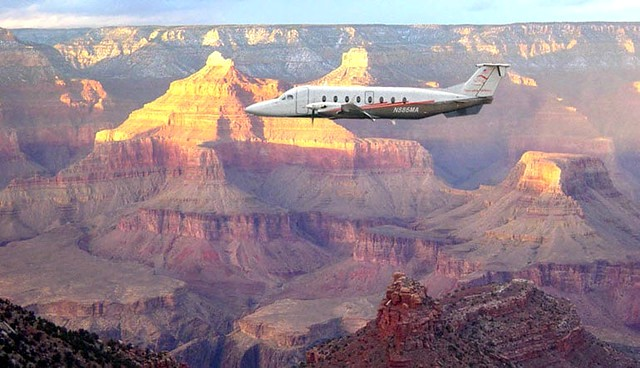Maverick Airlines Beechcraft 1900D Flying Over The South Rim of Grand Canyon National Park