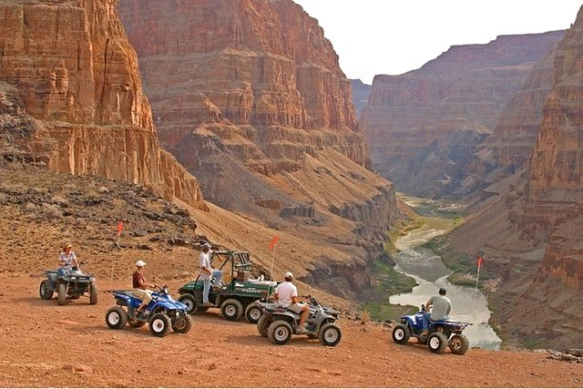 North Rim Grand Canyon Airplane Tour: ATV Tour from Bar 10 Ranch to a Remote Overlook on the Colorado River, Grand Canyon, Arizona