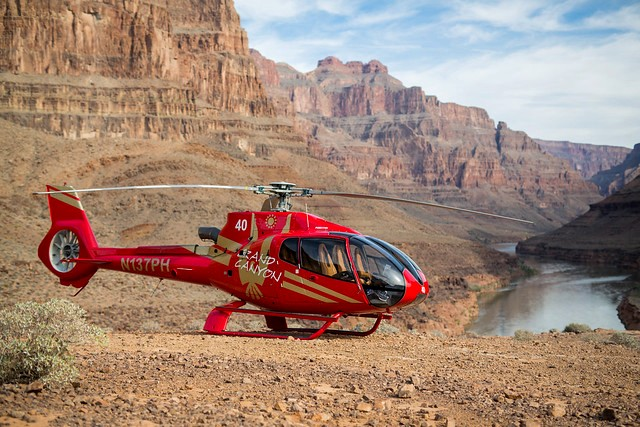 Bus + Heli + Colorado River Boat Tour at Grand Canyon West: Helicopter at the Bottom of the Canyon, Grand Canyon West, Hualapai Indian Reservation, Arizona