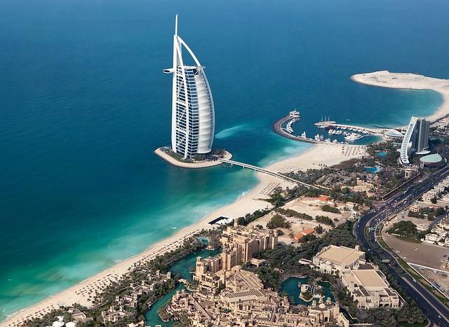 Burj Al Arab, Madinat Jumeirah and Jumeirah Beach Hotel, Dubai, UAE