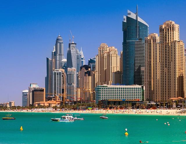 Jumeirah Beach at Dubai Marina, Dubai, UAE