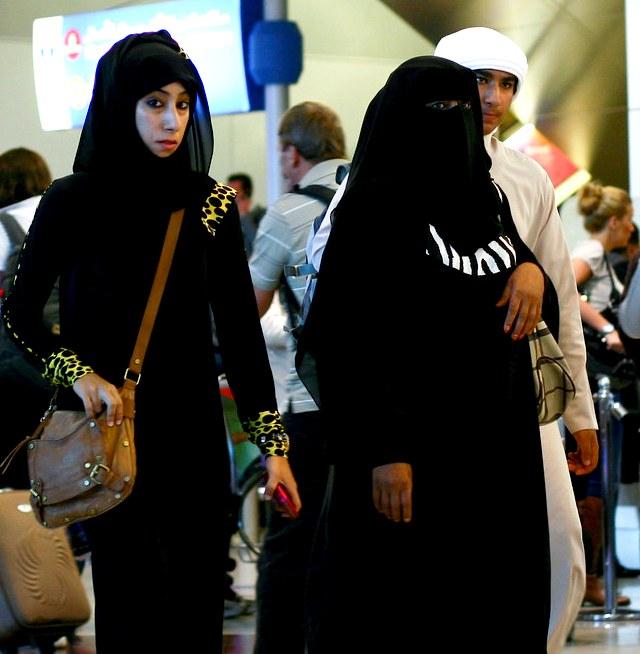 Local Women at the Airport, Dubai, UAE