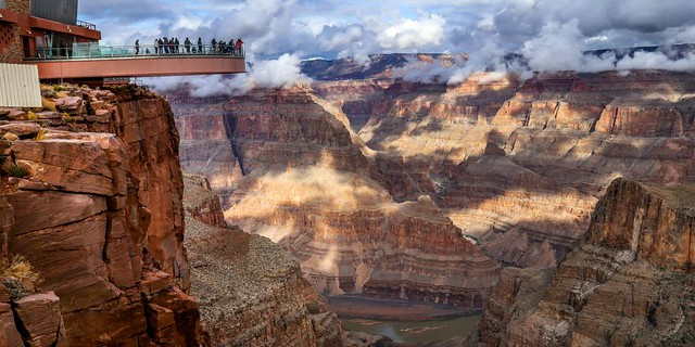 Grand Canyon West & Skywalk Bus Tour: The Skywalk and the Colorado River Gorge at Grand Canyon West, Arizona