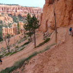 Going Down the Bottom of the Bryce Amphitheater in Bryce Canyon National Park in Utah