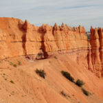 Going down into the Amphitheater from Bryce Point in Bryce Canyon National Park in Utah
