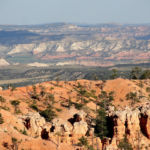 Grand Staircase Escalante from Sunrise Point on Queens Garden Trail in Bryce Canyon National Park in Utah